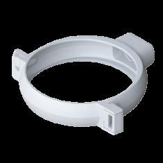 Хомут трубы 95мм для водосточной системы Альта-Профиль Элит белый